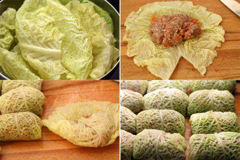 Рецепт Голубцы из савойской капусты с мясом шаг-6
