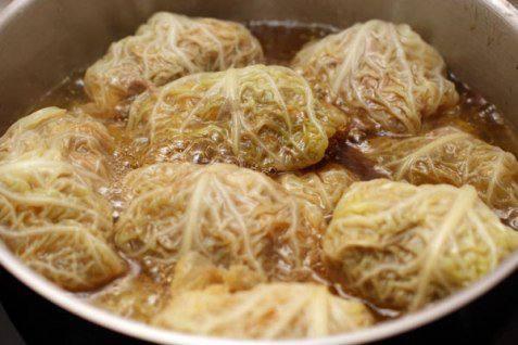 Рецепт Голубцы из савойской капусты с мясом шаг-7