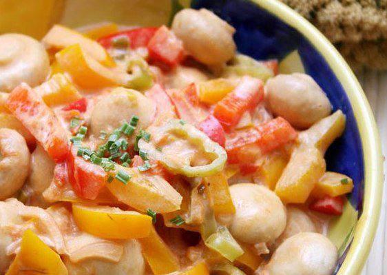 Готовим Закуски Грибное рагу с томатами