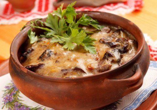 Готовим Закуски Кабачки с грибами и кинзой