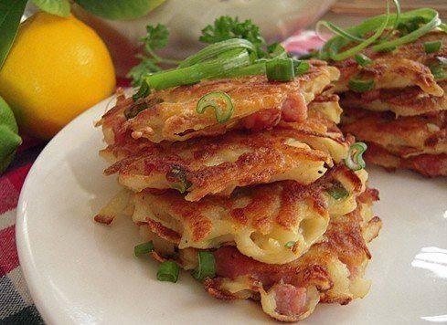 Готовим Закуски Картофельные драники с колбасой