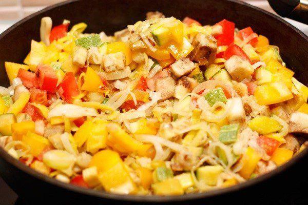 Рецепт Лазанья с овощами шаг-1