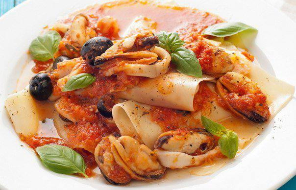 Готовим Закуски Открытая лазанья с морепродуктами