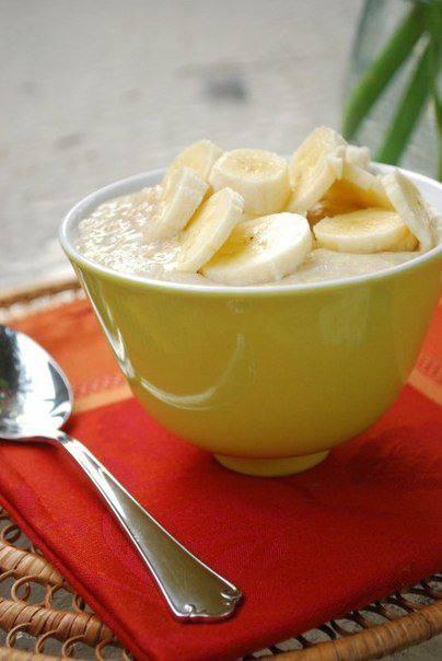 Готовим Закуски Овсянка с медом, корицей и бананом