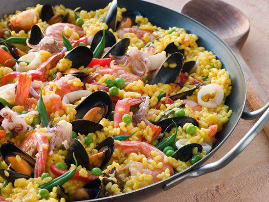 Готовим Закуски Паэлья с морепродуктами