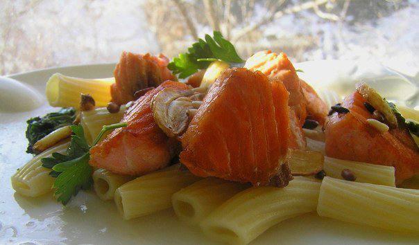 Готовим Закуски Паста с лососем