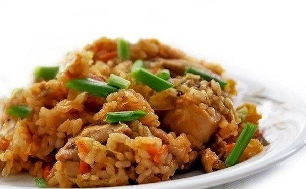 Готовим Закуски Рис с капустой и курицей