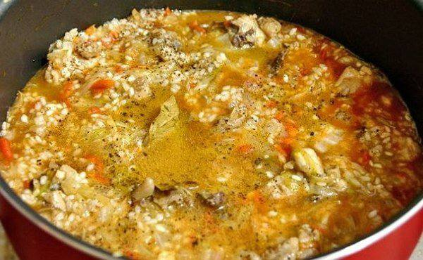 Рецепт Рис с капустой и курицей  шаг-4