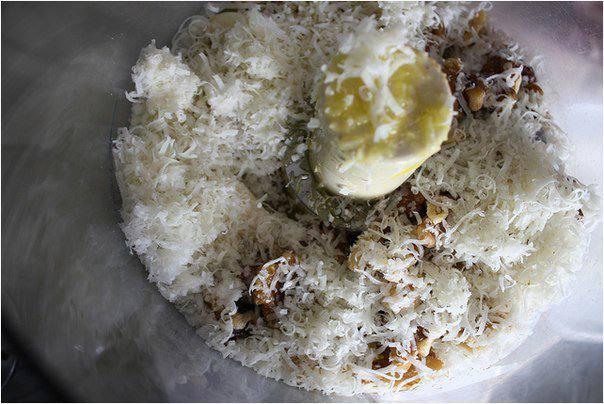 Рецепт Спагетти с песто из грецких орехов  шаг-2