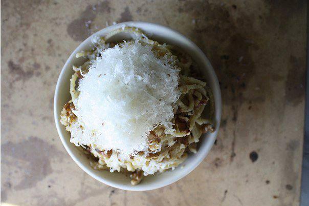 Рецепт Спагетти с песто из грецких орехов  шаг-4