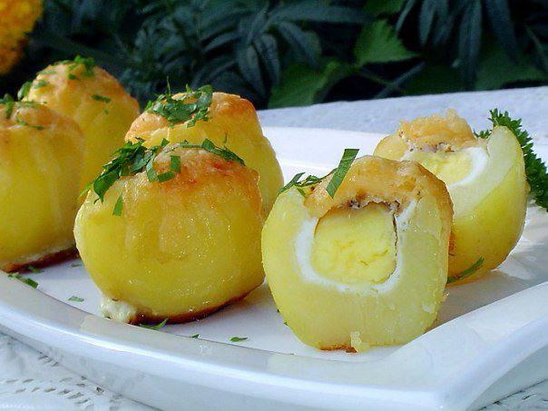 Готовим Закуски Запеченный картофель «Сюрприз»