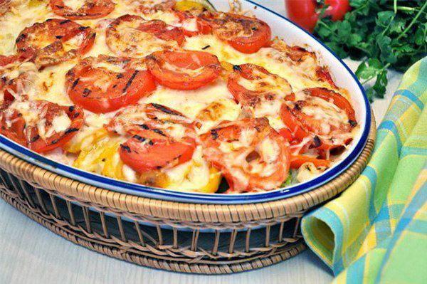 Готовим Закуски Запеканка из овощей-гриль с сыром