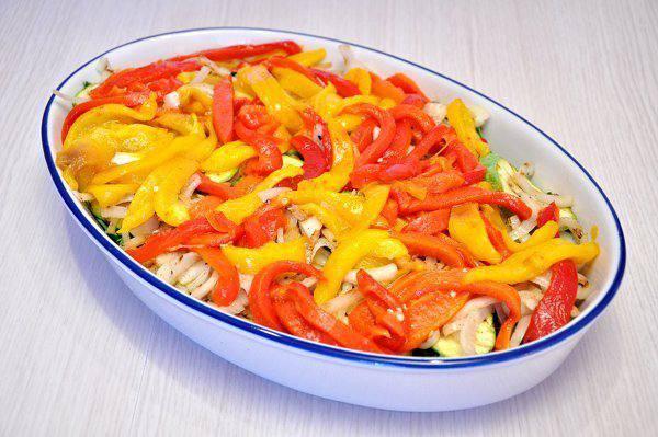 Рецепт Запеканка из овощей-гриль с сыром  шаг-4