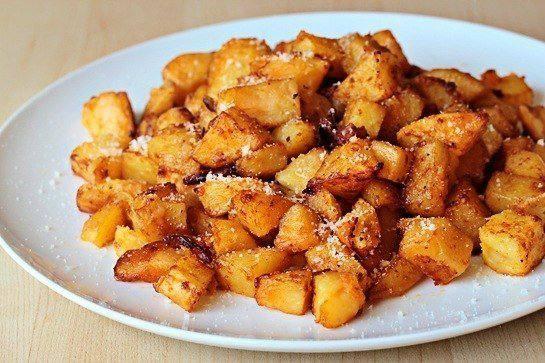 Готовим Закуски Жареный картофель с сыром