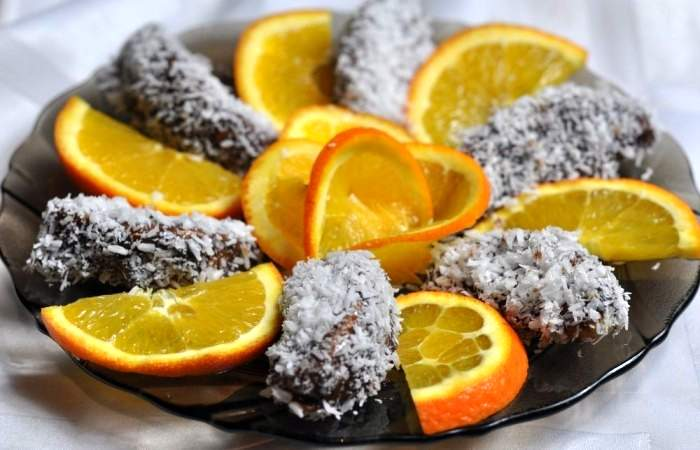 Готовим Десерты Апельсиновые дольки в шоколаде