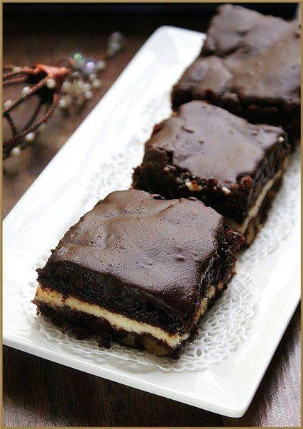Готовим Десерты Брауни с кремчиз и орехами пекан