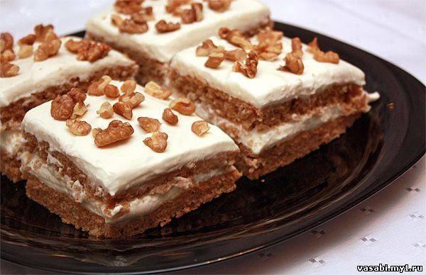 Готовим Десерты Гречневый торт с творожной начинкой