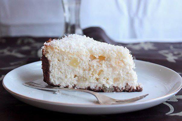 Готовим Десерты Кокосовый чизкейк с кусочками ананаса