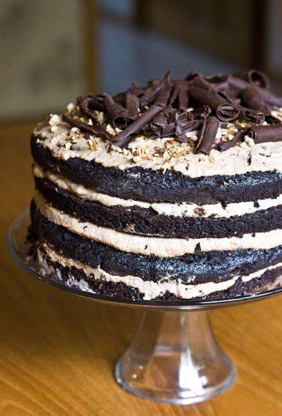 Готовим Десерты Шоколадный торт с кофейным муссом