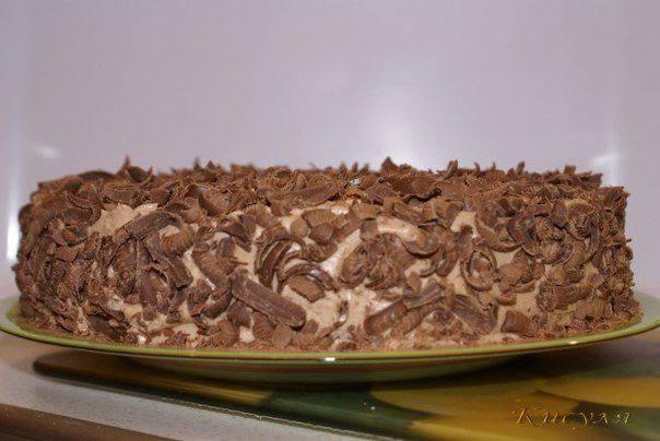 Готовим Десерты Шоколадно-сырный торт