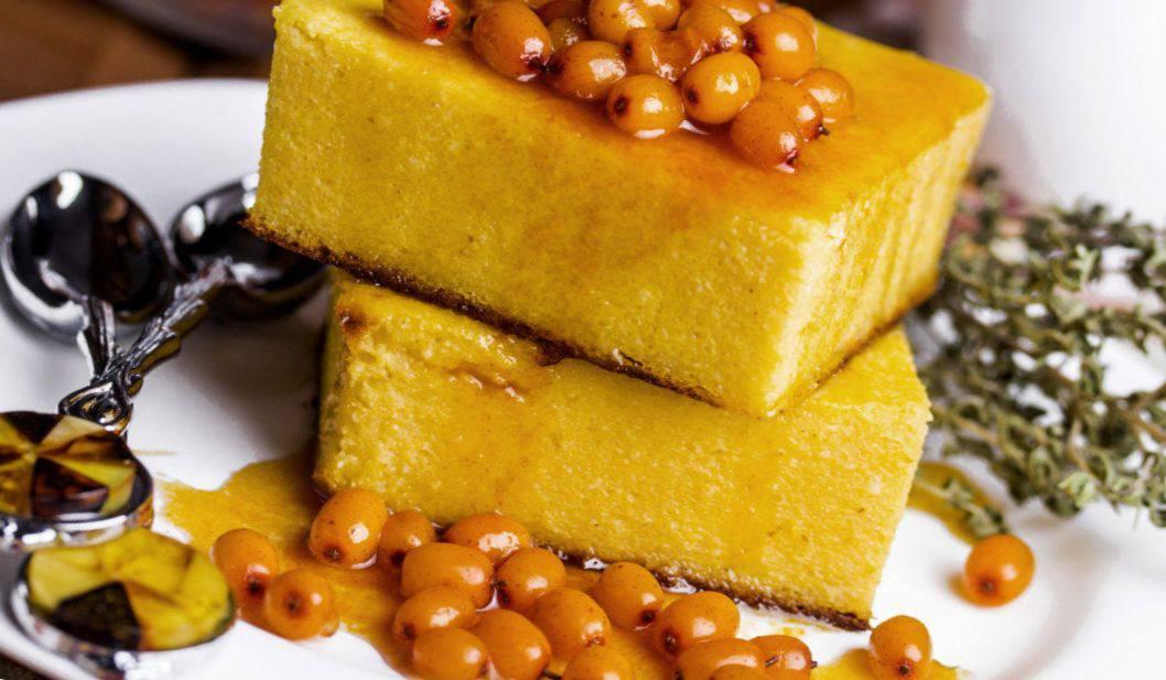 Готовим Десерты Тыквенный кекс с облепихой