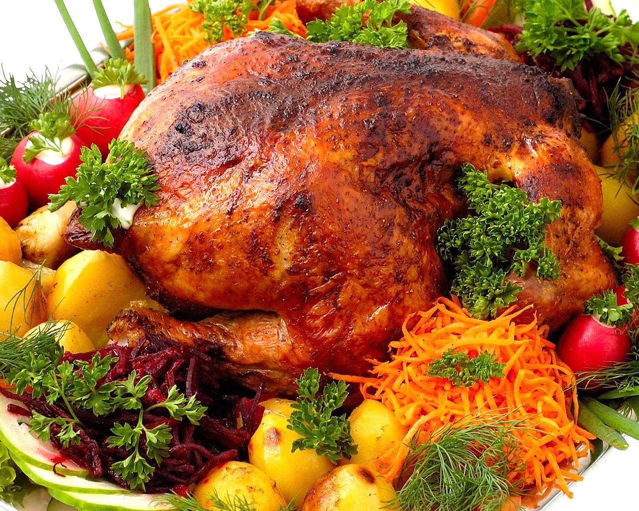 Фаршированный цыпленок в духовке