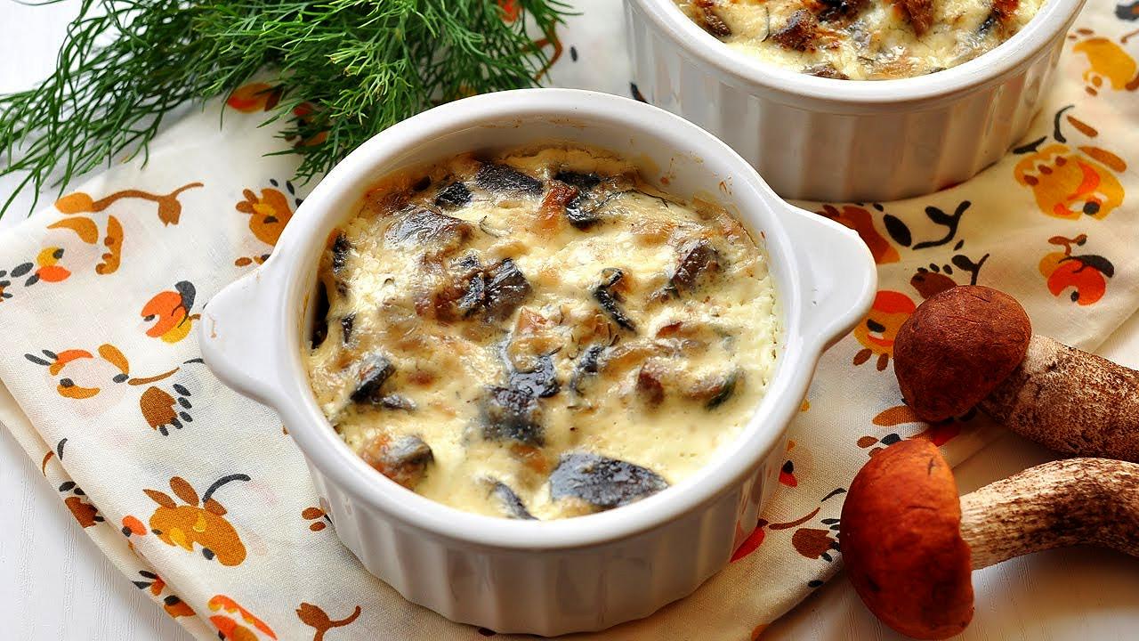 Жульен с курицей и грибами в сметанном соусе