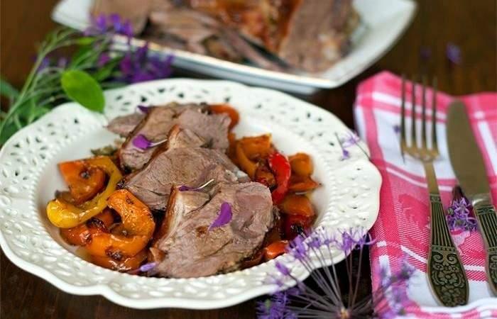 Рецепт Баранина, запеченная с овощами шаг-5