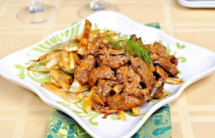 Мясо Бефстроганов из говядины