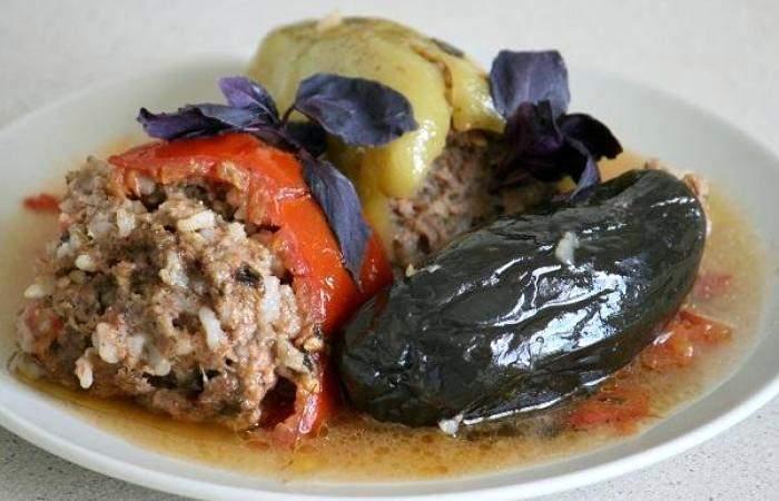 Мясо Фаршированные овощи