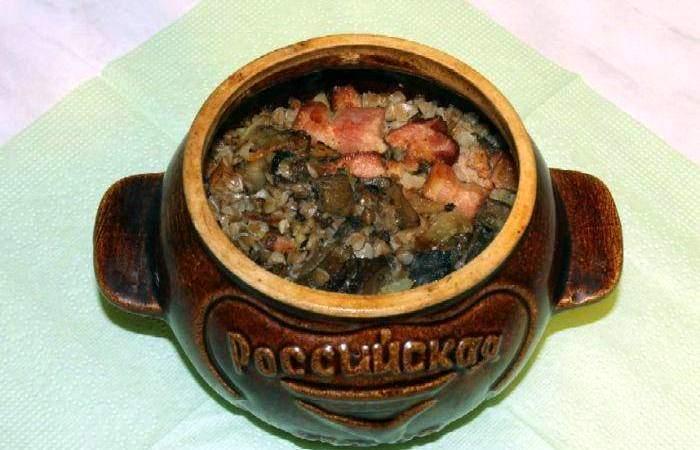 Мясо Гречневая каша в горшочке
