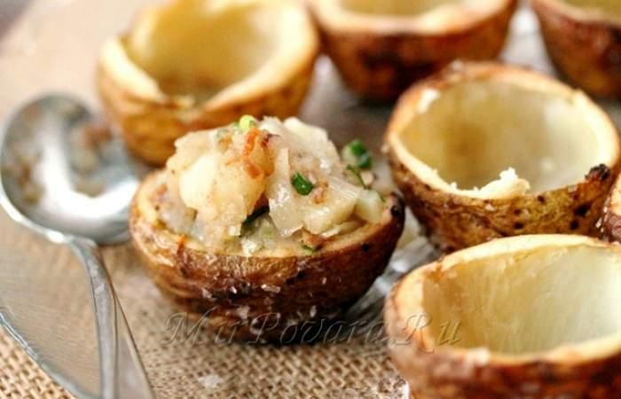 Рецепт Картофельные корзинки с сыром и беконом шаг-18