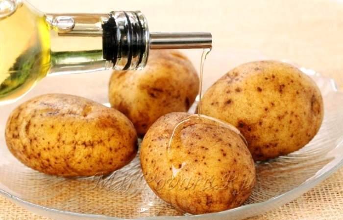 Рецепт Картофельные корзинки с сыром и беконом шаг-1