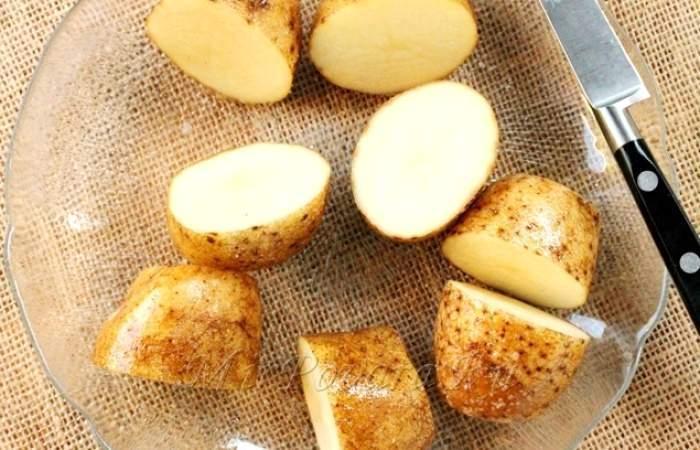 Рецепт Картофельные корзинки с сыром и беконом  шаг-4