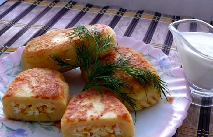 Рецепт Картофельные зразы с яйцом шаг-10