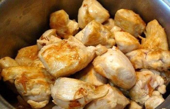 Рецепт Курица с шампиньонами и тыквой шаг-5