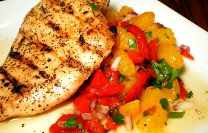 Готовим Мясо Куриная грудка с салатом
