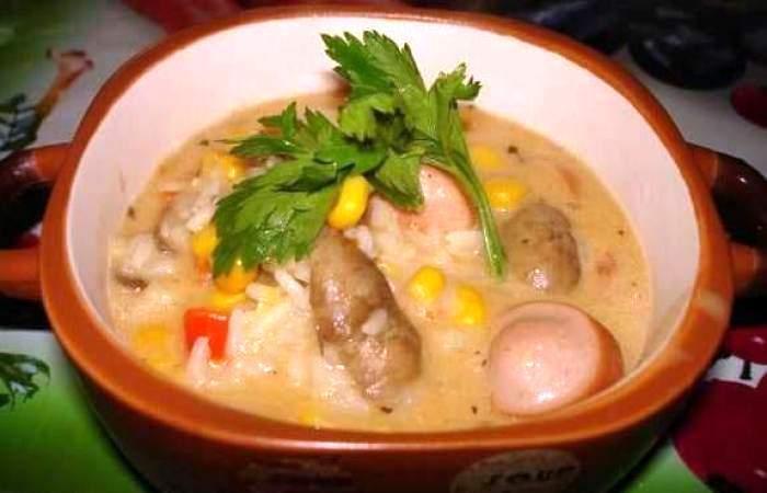 Готовим Мясо Паэлья с сосисками и грибами