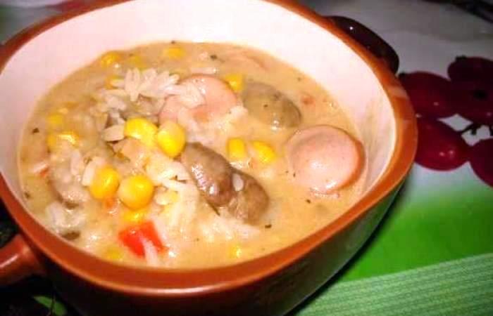 Рецепт Паэлья с сосисками и грибами шаг-5