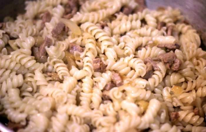 Рецепт Свинина с макаронами шаг-8