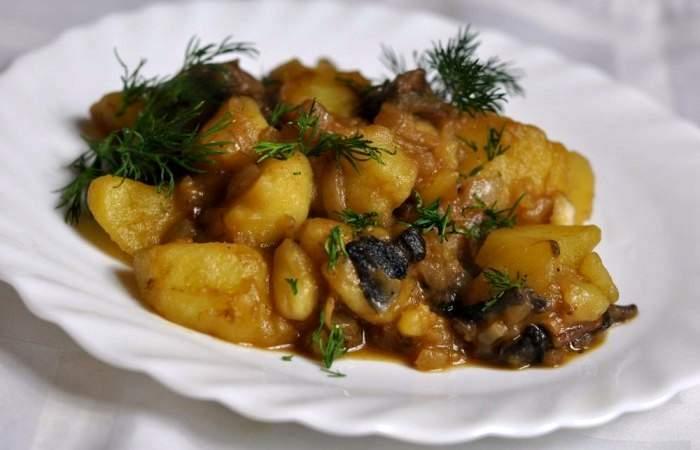 Готовим Здоровье Тушеная картошка с грибами