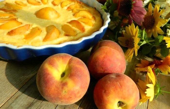 Рецепт Творожная запеканка с персиками и манкой шаг-7