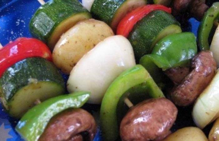 Рецепт Вегетарианский шашлык шаг-5