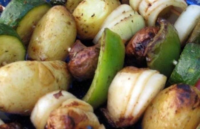 Рецепт Вегетарианский шашлык шаг-6
