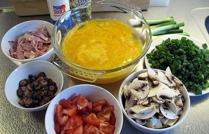 Рецепт Яичница из страусиного яйца  шаг-4