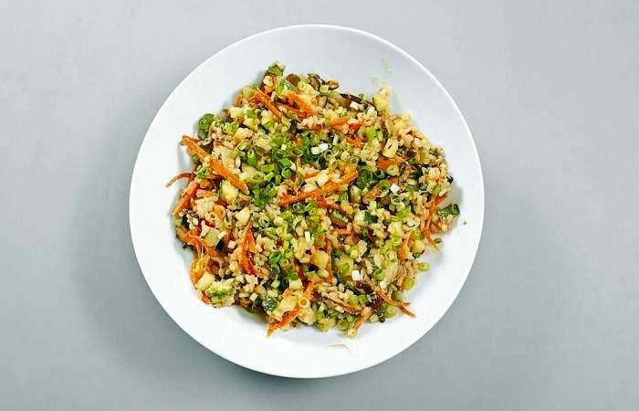 Рецепт Жареный рис по-китайски с овощами и грибами шаг-8
