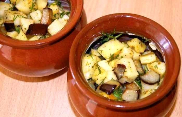 Рецепт Жаркое в горшочках по-вегетариански шаг-5