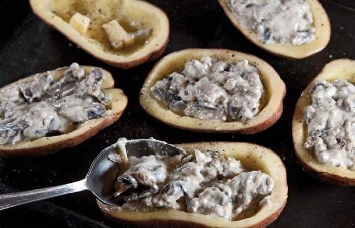 Рецепт Жульен в картофеле шаг-8