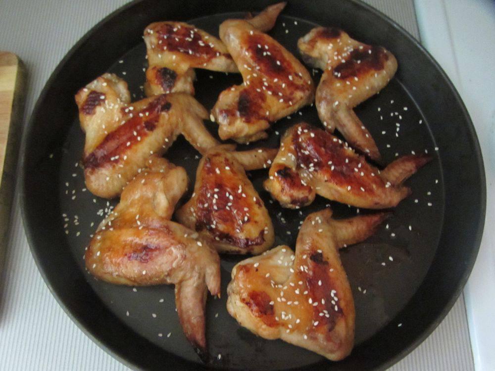 Куриные крылья в соусе терияки