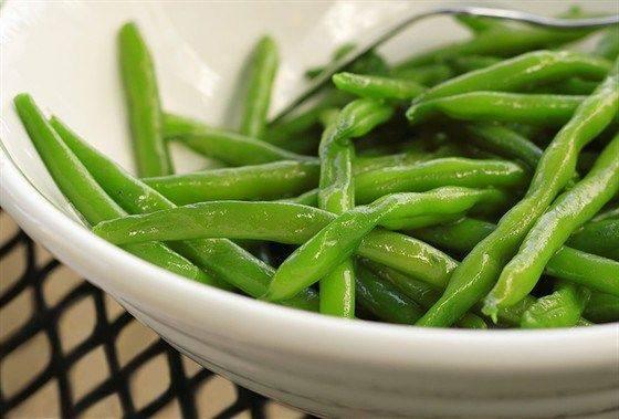 Соте из зеленой фасоли